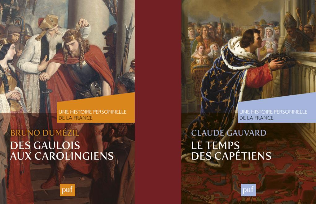 Des Gaulois aux Carolingiens. De Bruno Dumézil. Le Temps des Capétiens. De Claude Gauvard. Collection « Une histoire personnelle de la France », P.U.F., 2013, 224 pages,14 €.